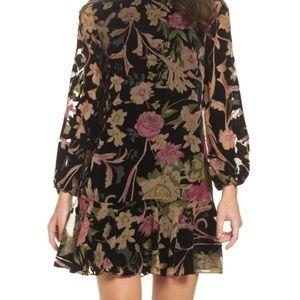 Eliza J Floral Velvet Dress 10